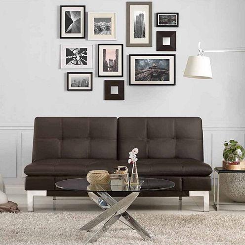 Serta Valencia Leather Sleeper Sofa