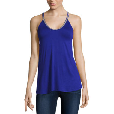 jcpenney.com | Bold Elements® Beaded V-Neck Top
