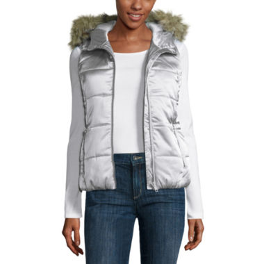 jcpenney.com | Liz Claiborne Hooded Puffer Vest