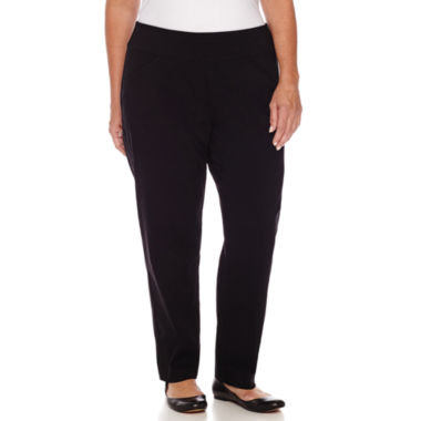 jcpenney.com | Alfred Dunner Wrap It Up Woven Flat Front Pants-Plus Short