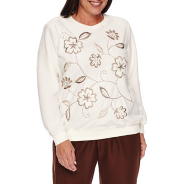 jcpenney.com | Alfred Dunner Twilight Point Long Sleeve Crew Neck T-Shirt-Plus