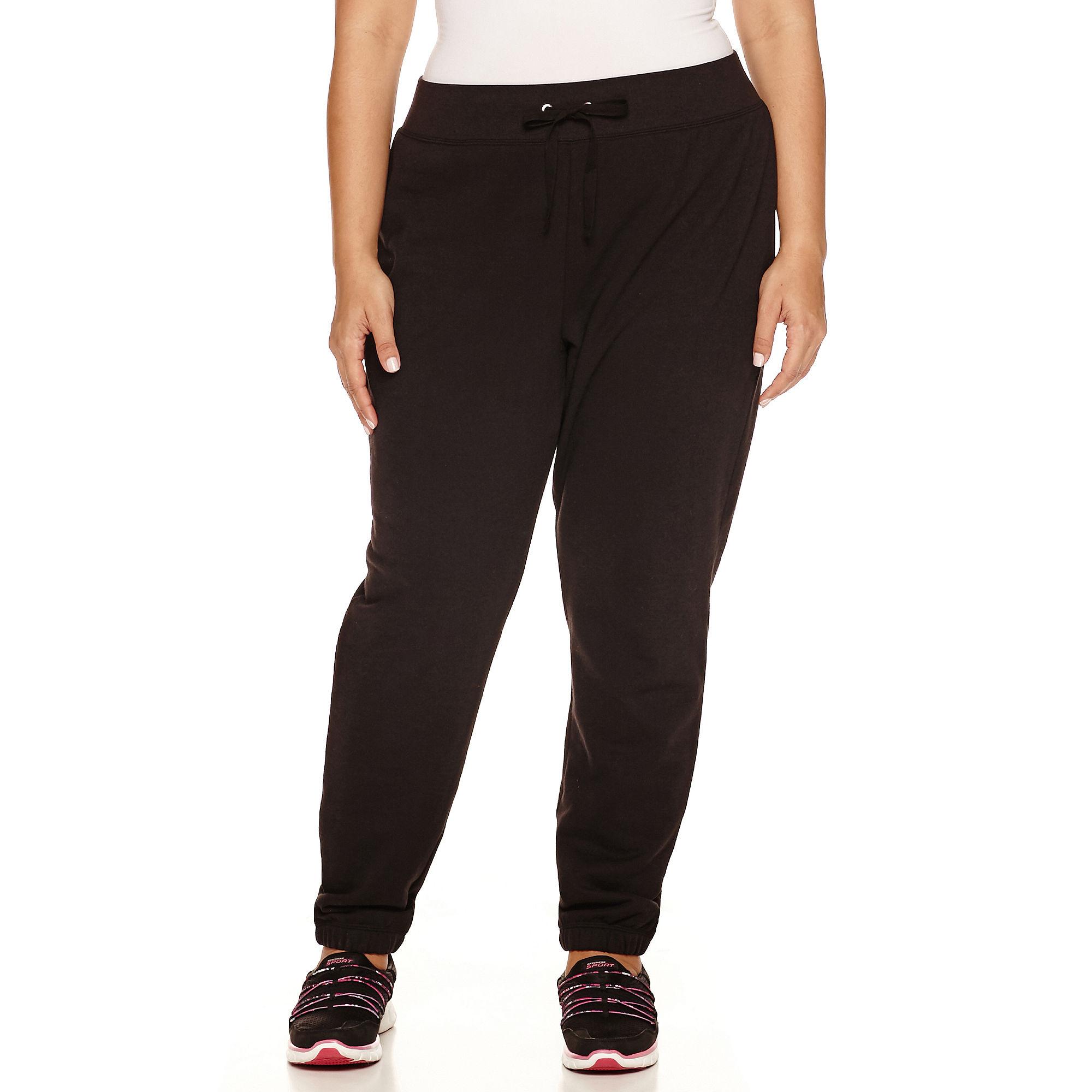 Made For Life Fleece Workout Pants Plus plus size,  plus size fashion plus size appare