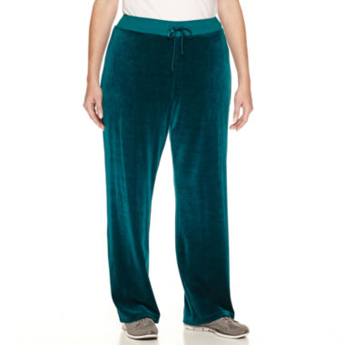jcpenney.com | Made For Life Velour Workout Pants Plus
