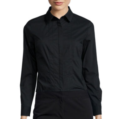 jcpenney.com | Worthington® Essential Long-Sleeve Oxford Shirt - Petite