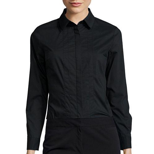 Worthington® Essential Long-Sleeve Oxford Shirt - Petite