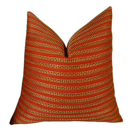 Plutus Tied Rows Handmade Throw Pillow