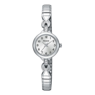 jcpenney.com | Pulsar® Womens Crystal-Accent Stainless Steel Bracelet Watch PPH549