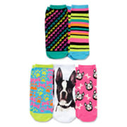 5-pk. Pet Print Low-Cut Socks