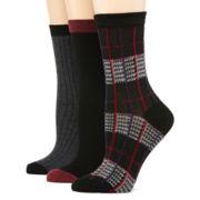 Mixit™ 3-pk. Ruffled Crew Socks
