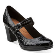 Clarks® Brynn Posey Leather Pumps