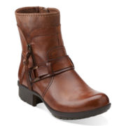 Clarks® Riddle Avant Leather Womens Boots