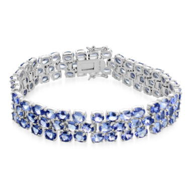 jcpenney.com | LIMITED QUANTITIES  Genuine Tanzanite Large 3-Row Bracelet