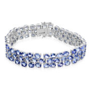 Genuine Tanzanite Large 3-Row Bracelet