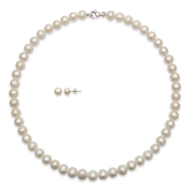 jcpenney.com | Cultured Freshwater Pearl Necklace & Earring Boxed Set