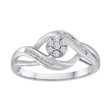jcpenney.com | diamond blossom 1/5 CT. T.W. Diamond 10K White Gold Cluster Ring