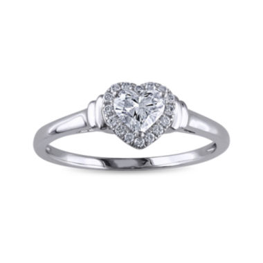 jcpenney.com | 1/2 CT. T.W. Diamond 14K White Gold Heart Ring