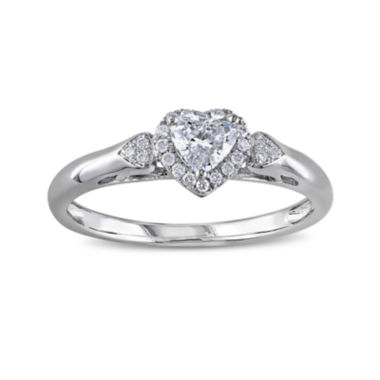 jcpenney.com | 2/5 CT. T.W. Diamond 14K White Gold Heart Ring