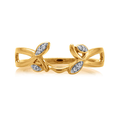Diamond-Accent 14K Yellow Gold Floral Ring Guard