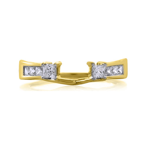1/2 CT. T.W. Diamond 14K Yellow Gold Ring Enhancer