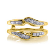 3/8 CT. T.W. Diamond 14K Yellow Gold Ring Wrap