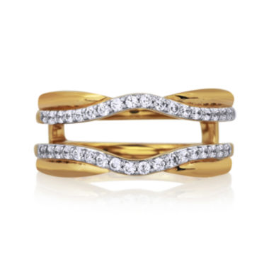 jcpenney.com | 3/8 CT. T.W. Diamond 14K Yellow Gold Contour Ring Wrap