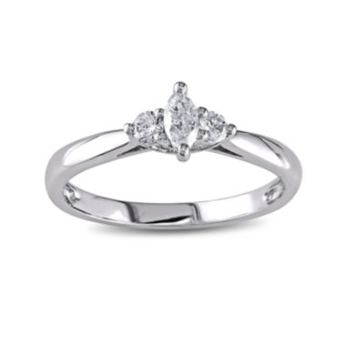 jcpenney.com | 1/4 CT. T.W. Diamond 14K White Gold 3-Stone Marquise Bridal Ring