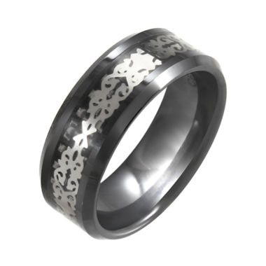jcpenney.com | Black Ceramic & Stainless Steel Patterned Band