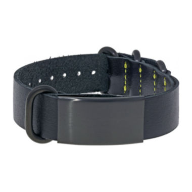 jcpenney.com | Mens Leather & Stainless Steel & Black IP ID Bracelet
