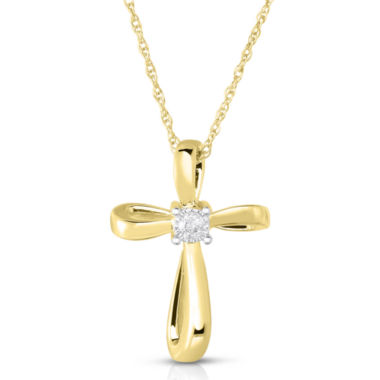 jcpenney.com | TruMiracle® 1/10 CT. Diamond Cross Pendant Necklace