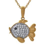 ASPCA® Tender Voices™ 1/6 CT. T.W. Diamond Fish Pendant Necklace