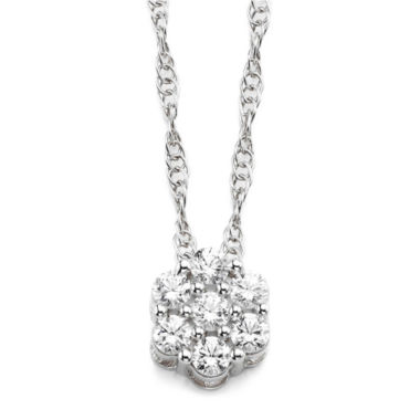 jcpenney.com | diamond blossom 1/5 CT. T.W. Diamond Sterling Silver Cluster Pendant