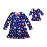 Dollie & Me Matching Cupcake Nightshirt Set - Girls 4-14