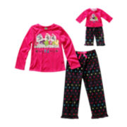 Dollie & Me Matching Long-Sleeve Puppy Pajama Set - Girls 4-12