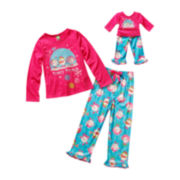 Dollie & Me Matching Frosty Long-Sleeve Pajama Set - Girls 4-12