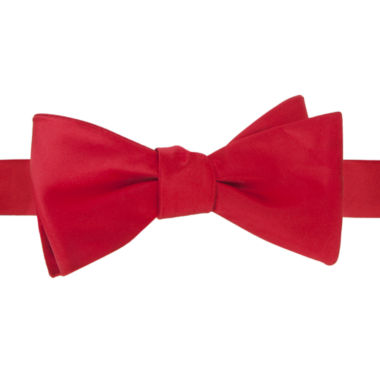 jcpenney.com | Stafford® Satin Solid Self-Tie Bow Tie