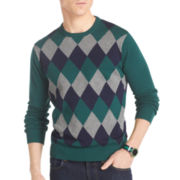 IZOD® Argyle Crewneck Sweater