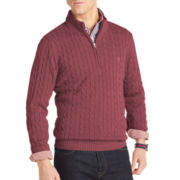 IZOD® Quarter-Zip Cable Sweater