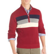 IZOD® Quarter-Zip Shaker Sweater