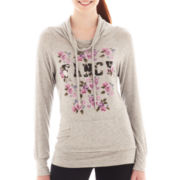 Sugar High Long-Sleeve Graphic Hooded Tunic