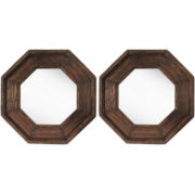 PTM Images™ Set of 2 Octagonal Mirrors Wall Art