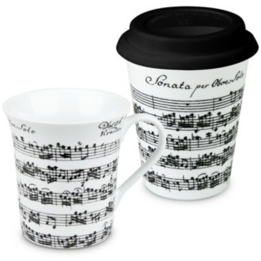 jcpenney.com | Konitz Vivaldi Libretto 2-pc. Stay/Go Mug Set
