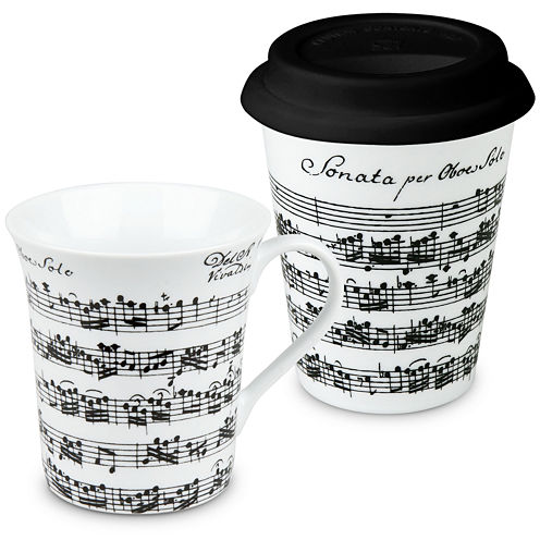 Konitz Vivaldi Libretto 2-pc. Stay/Go Mug Set