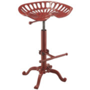 Tractor Seat Cast Iron Adjustable Stool