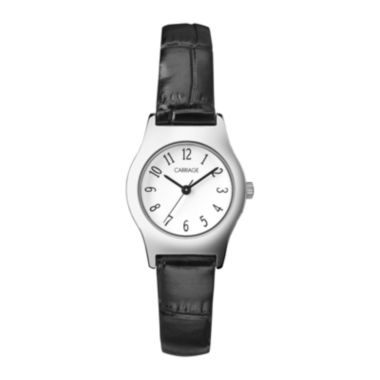 jcpenney.com | Carriage by Timex® Womens Black Strap Watch C3C3649J