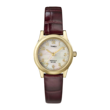jcpenney.com | Timex® Elevated Classic Womens Brown Leather Strap Watch T216939J