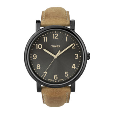 jcpenney.com | Timex® Originals Modern Easy Reader Tan Leather Strap Watch T2N677AB
