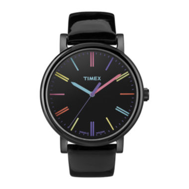 jcpenney.com | Timex® Originals Modern Womens Black Leather Strap Watch T2N790AB