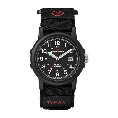 Timex® Expedition® Camper Mens Black Nylon Fast Strap Watch T400119J