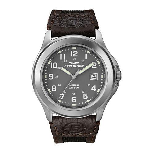 Timex® Expedition® Field Metal Mens Black Fabric Strap Watch T400919J