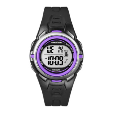 jcpenney.com | Marathon by Timex® Womens Black Resin Strap Digital Watch T5K364M6